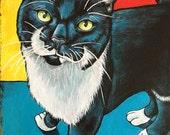 Custom Cat Portrait  8x10 Painted from your photographs Cat Art Pet Lover