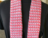 PDF Knitting Pattern Download for the Easy Tricolor Felted Scarf