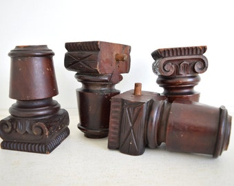 Wood Architectural Salvages - Carved Wood Salvage - Vintage Table Legs