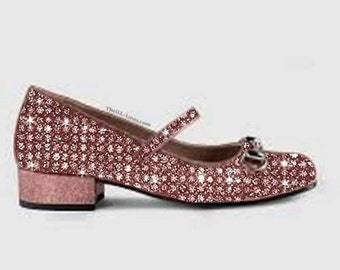 Gucci Children's Glitter Horsebit Shoe