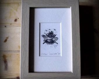 Grand Jete - Digital Print of Original Monotype - Ballet Bee