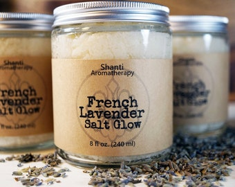 French Lavender Salt Glow - Eco friendly skin care for dry and sensitive skin