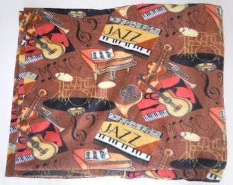 Jazz Music Fleece Blanket - Extra Large