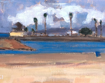 Stormy Weather Ocean Beach, San Diego Landscape Painting