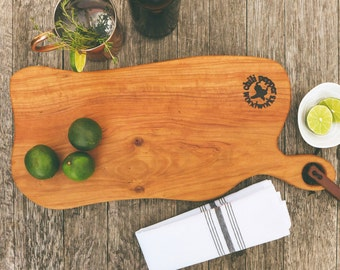 Tuscan Style Handmade Charcuterie & Appitizer Tray made from Cherry wood