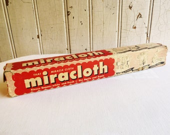 Vintage Miracloth Re-useable Cleaning Cloth in Original Box - Laundry Room Decor - Mid-Century 1950s