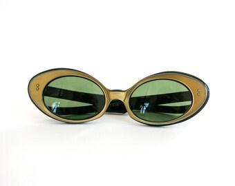 Vintage Vtg Vg 1960's 60's Contesse France Sunglasses Mod/Retro/Hipster Sunnies Nirvana Teen Spirit Glasses Women's French Frames