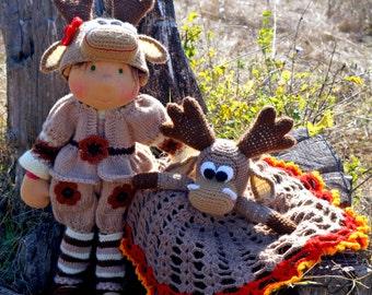"""Waldorf knitted doll Kichka 19"""""""