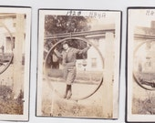 Nana in 1923 - Lot of 3 vintage snapshots