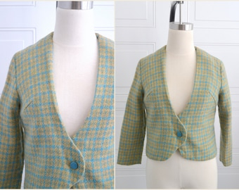 1960s Gaddi Houndstooth Wool Jacket