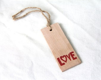 love - a natural wood bookmark from reclaimed wood