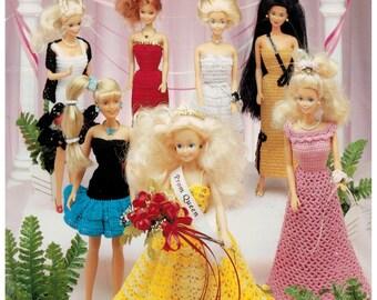 Fashion Doll Prom Dresses in Thread Crochet Barbie