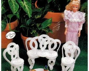 Annie's Attic Fashion Doll Garden Furniture - Plastic Canvas- Barbie