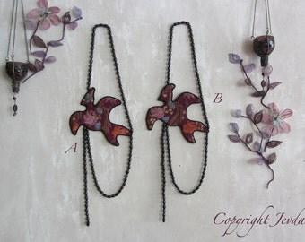 Bird Necklace, art to wear, statement necklace, fabric necklace, textile art, beaded necklace, wearable art, art jewelry, bib necklace