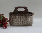 Silverware Basket / Paper Plate Basket / Divided Basket / Napkin Basket /  Organizer Basket-Primitive Style