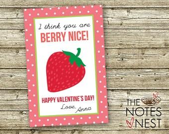 You Are Berry Nice! - Valentine Printable - Custom