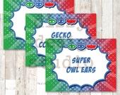 PJ Masks Inspired Food Labels