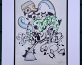 Pen and Ink surreal drawing PRINT