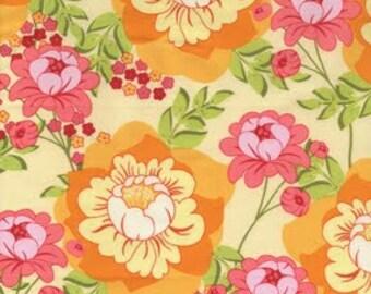 "Sandi Henderson - ""Splashy Rose"" in citrus - Michael Miller Fabrics"
