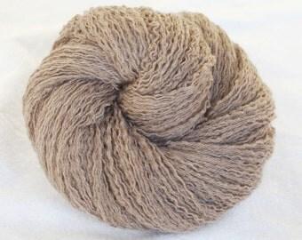Extra Fine Merino Wool Recycled Yarn, Light Brown, Light Fingering,  423 yards
