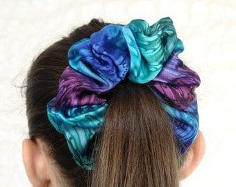 Jewel Tone Hand Dyed Silk Scrunchie