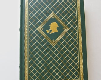 Vintage Great Cases Of Sherlock Holmes Franklin Library Mystery Masterpieces Arthur Conan Doyle Hardcover Book 1987