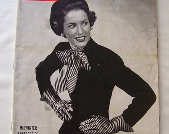 Vintage Life Magazine 1948 MidWinter Fashion Vintage Advertising Fashion Of The Day Cigarette Advertisements