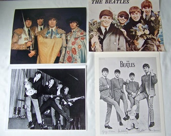 Vintage Beatles Photos Promo Shots Set of Four John Paul George and Ringo Beatlemania 1980s