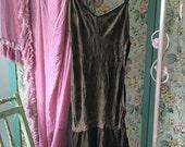 Vintage Burlesque Lingerie Lace Brown Black Teddy Onsie Playsuit Romper Camisole Slip Top With Garters Q122