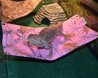 bearded dragon hammock bed pink camo etsy    your place to buy and sell all things handmade  rh   etsy