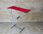Vintage Portable Stool Vintage OLD PAL Fishing Camping Hiking  Folding Seat