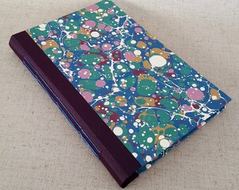 Modern Marbled Composition Book  in Purple - Small Journal - Bullet Journal