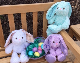Stuffed Bunny, Plush soft bunny, Easter Bunny, Personalized Easter Bunny
