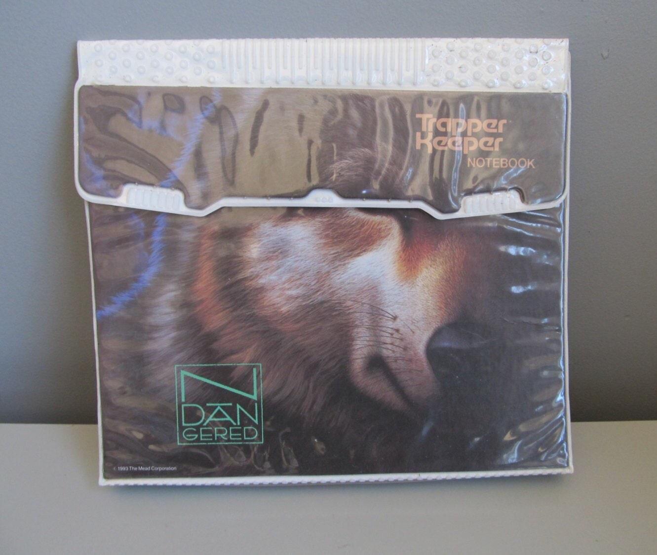 1993 Mead Trapper Keeper Endangered Wolf 3 Ring Binder