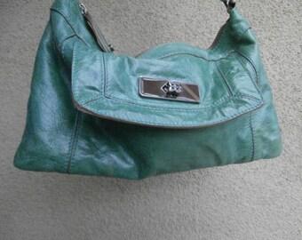 Pretty Green Leather Purse