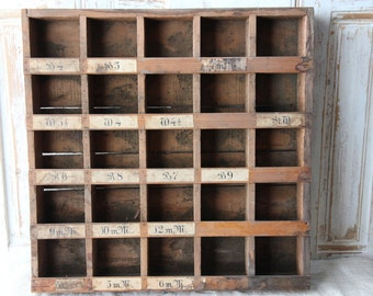 Antique industrial shelf from Holland