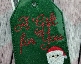 A gift for you gift tag, Santa gift card holder