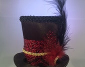 Gothic Inspired Tiny Top Hat