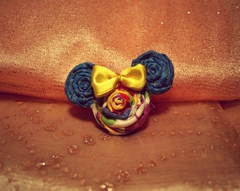 Stocking Stuffer Mini Mickey Mouse Fabric Pins and Hairclips