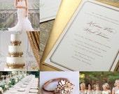 Simple Gold Wedding Invitation Gold Wedding Invitations Simple Wedding Invitation - Sample