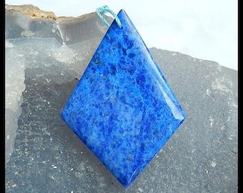 Gemstone Lapis Lazuli Pendant Bead,51x35x5mm,13g