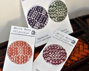 """1.5"""" Button Handwoven cotton fabric for sewing"""