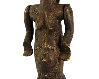 Tabwa Marionette Moveable Arms Female 20 Inch Congo African Art 99546