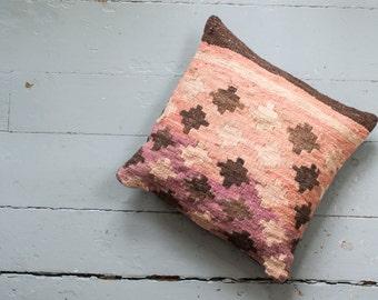 Turkish Kilim pillow - Big Sister Little Sister.