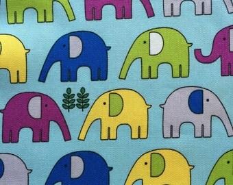 Japanese cotton fabric elephant printed 100cm x 110cm