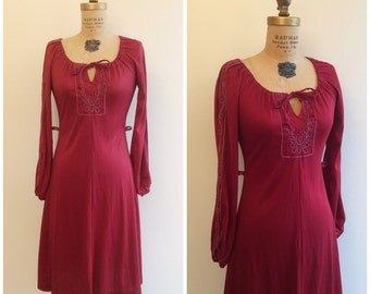1970s Frederick's of Hollywood Dress 70s Mod Soutache Scooter Dress