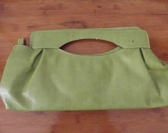 Vintage Lime Green Purse - Green Clutch Purse