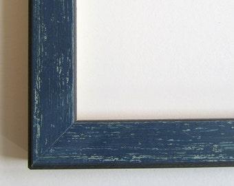 Distressed Blue Frame...11x14 inch
