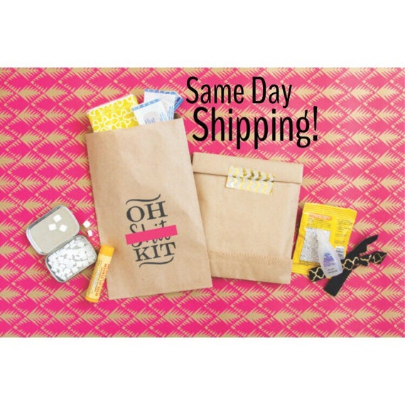 Oh Sht Kit Paper Bag Hangover Wedding Favor Bags