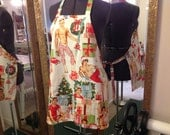 Sexy MEN Christmas full size adult APRON with 2 large pockets